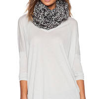 White + Warren Aran Cable Infinity Scarf in Black