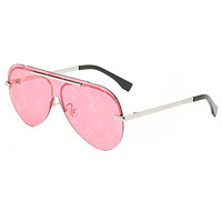 Louis Vuitton LV hot-selling metal all-match sunglasses fashion men and women reflective personality classic beach sunglasses