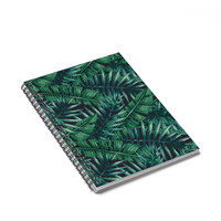 Stoner Spiral Journal - Tropical Leaves