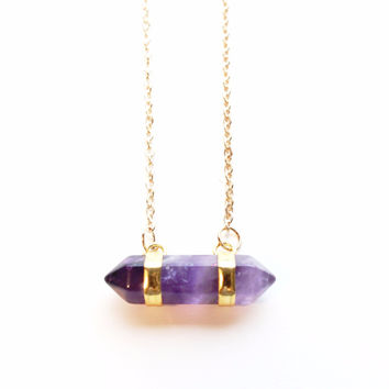 Amethyst Stone Pendant Necklace