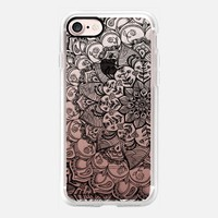 Shades of Crystal Grey Transparent Doodle iPhone 7 Case by Micklyn Le Feuvre | Casetify