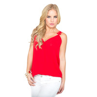 Wrapped In Petals Red Top