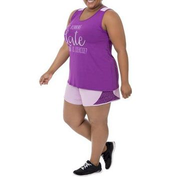 Women's Plus Size Graphic and Solid Tank