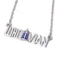 """Basket Hill Watches, Silver Tone Dr Who """" WHOVIAN """" and Tardis Necklace"""