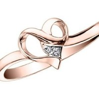 Diamond Heart Promise Ring in 10K Gold: Jewelry