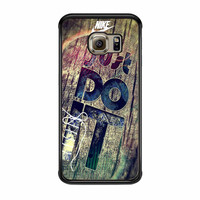 Nike Just Do It Wood Samsung Galaxy S6 Edge Case