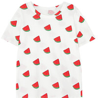 Watermelon Print Short Sleeve T-Shirt