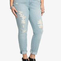Torrid Skinny Jean - Light Wash with Destruction (Regular)