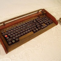 Antique Looking Computer Keyboard Mouse with by woodguy32 on Etsy
