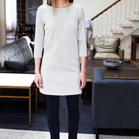 Cuff Sleeve Dress - Argento Double-faced | Emerson Fry