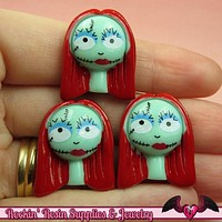 4 pc SALLY NIGHTMARE Halloween Decoden Flatback Kawaii Cabochon Cellphone Decoration