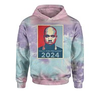 Yeezus For President Tie-Dye Youth-Sized Hoodie