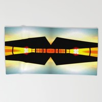 LIGHT SHELTER Beach Towel by Chrisb Marquez
