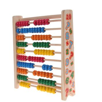 Kids Baby Wooden Toys Small Abacus Handcrafted Educational Toys For Children Early Learning Math Toy