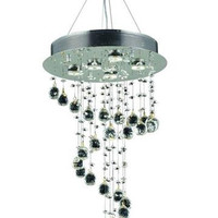 Bernadette - Large Hanging Fixture (5 Light Contemporary Hanging Crystal Chandelier) - 1724D26
