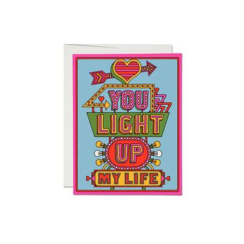 Light Up My Life Love Card