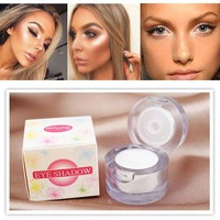 Professional 2 in 1 Women's Face Brighten Highlighter Bronzer Palette Natural  Eyeshadow Contour Eye GLitter Powder Makeup Sets