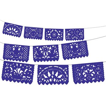5 Pk Papel Picado banners in Royal blue 60 Ft WS2030