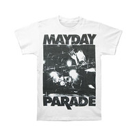 Mayday Parade Men's  Upstage T-shirt White Rockabilia