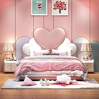 Simple and Soft Princess Bed full bed