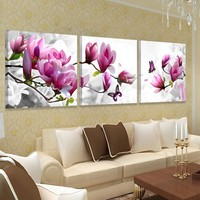Modern home Decor Picture Wall Art Hd Print Canvas Oil Orchid Painting Pictures For Bedrooms Living Room Paintings No Frame