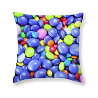 Candy Land Colorful Throw Pillow  or Pillow Cover, Perfect for Joyful Kids Room Sweet Tooth Home Decor Fun Accent Pillow For Indoor/Outdoor