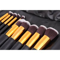 Makeup Brushes BESTOPE Premium Cosmetic Makeup Brush Set Synthetic Kabuki Makeup Foundation Eyeliner Blush Contour Brushes for Powder Cream Concealer Brush Kit(8PCs, Rose Gold)