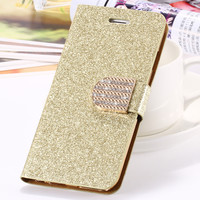 iPhone 6 6S Case Luxury Glitter Bling Crystal Diamond Leather Wallet Cas