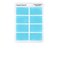 Silicone Soap Mold, GLOSSY Guest Rectangle 1610