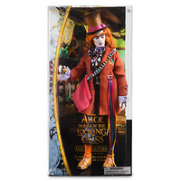 """disney alice through the looking glass mad hatter 13"""" doll new with box"""