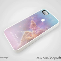 Pastel Apple Logo Space iPhone 5 4 4S Case iPhone 4 by afterimages