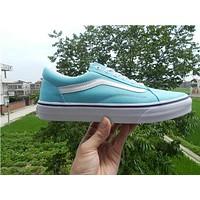 Trendsetter Vans Canvas Old Skool VN0A38G1MWL Light Blue Flats Sneakers Sport Shoes