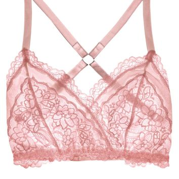 Lacey Easy Fit Bralette - Rose Quartz