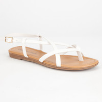 City Classified Spica Womens Sandals White  In Sizes