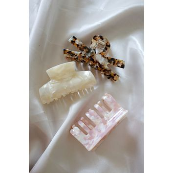 Straight To You Clip Set - Ivory