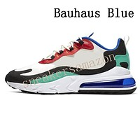 MEMO Cheap Sea Green React Mens running shoes Cream Blue Bleached Coral Bauhaus Blue Dusk Purple Hyper Jade Bright Violet sports sneakers