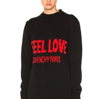 Givenchy I Feel Love Sweater in Black & Red | FWRD