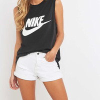 Nike Signal Black Muscle Tank Top - Urban Outfitters
