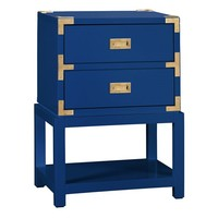 Bungalow 5 Tansu 2-Drawer Navy Side Table