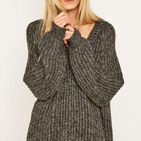 Light Before Dark V-Neck Jumper - Urban Outfitters