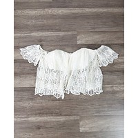 Off The Shoulder Bohemian Princess Crochet Top in More Colors