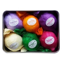 Bath Bombs Gift Set - USA Made - Lush Bubble Bath Alternative. Vegan & All Natural Essential Oils Relaxation, Stress Relief, Dry Skin Relief Is Just One Bathtub Away! A Unique Gift for Her. Infused With Organic Shea and Cocoa Butter