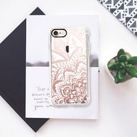 MANDALA LOVE - CRYSTAL CLEAR PHONE CASE iPhone 7 Case by Nika Martinez | Casetify