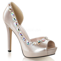 Champagne Women's Sexy Shoes w/ 4 3/4 Inch Heels
