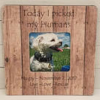 Personalized pet frame - gift ideas for christmas -  personalized dog frame - rescue pet gift - pet memorial - holiday gift ideas