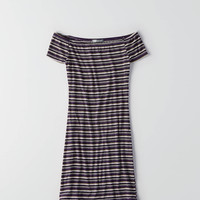 Don't Ask Why Off-The-Shoulder Dress, Delray Grey