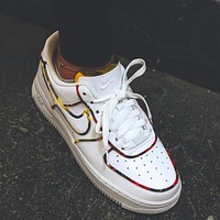 Nike Air Force 1 AF1 Tartan plate shoes
