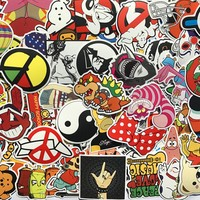 20PCS Mixed Funny Hit Stickers Toys For Kids Home Decor On Laptop Sticker Decal Fridge Skateboard Doodle Stickers Toy STK05