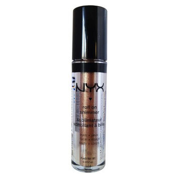 NYX Roll on Eye Shimmer / Almond - Bronze with Gold Glitter for Face,Eyes&Body