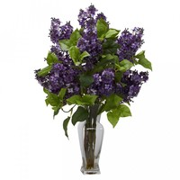 Lilac Silk Flower Arrangement (Purple)